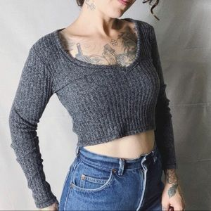 {Aritzia} WILFRED FREE Ribbed Cropped Top